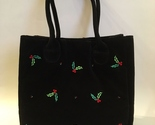 Purse holly berry black velour  1  36  .75 thumb155 crop