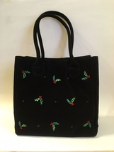 Purse holly berry black velour  1  36  .75 thumb200