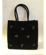Purse holly berry black velour  1  36  .75 thumbtall