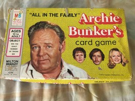 All in die Familie Archie Bunker's Kartenspiel Milton Bradley 1972 Komplet Retro - $10.86