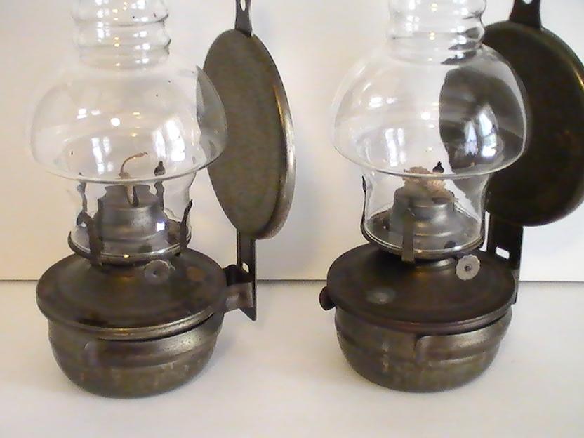 Oil Lamp Vintage Rustic Metal Wall Mounted Set Of 2 Oil