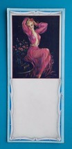PIN-UP Girl Blond Fairy in Rose Color Negligee - 1960s INK BLOTTER - $5.85