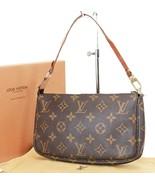 Authentic LOUIS VUITTON Accessory Pochette Monogram Handbag #37737 - $525.00