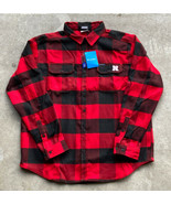 Nebraska Cornhuskers Men's Heavyweight Columbia Flannel Shirt Size XL New!  - $49.49