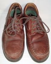 Florsheim Work Brown Leather Shoes 13 D Oil Slip Resistant Oxfords Lace Up  - $44.95