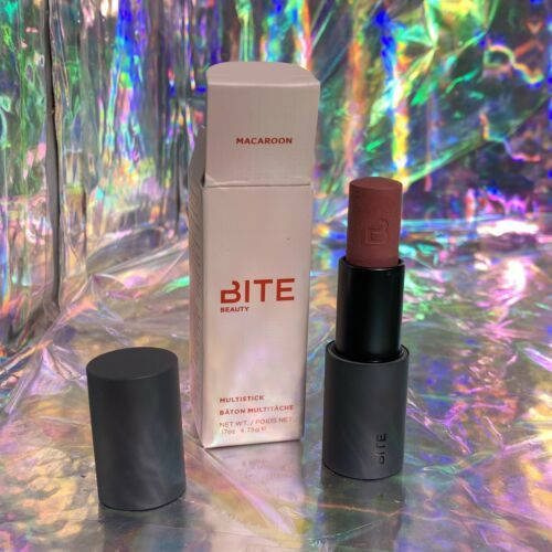 NIB Bite Beauty Macaroon Multistick Eyes Face Lips SOLD OUT DISCONT Full Sz