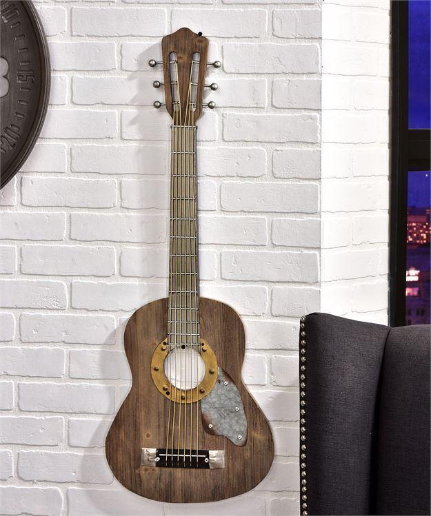 """Guitar Design Wall Decor  36.5"""" High  NEW"""