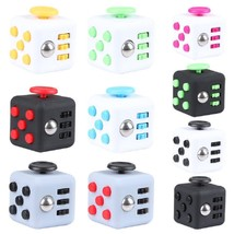 Magic Fidget Cube Anxiety Stress Relief - One Item w/Random Color and Design image 1