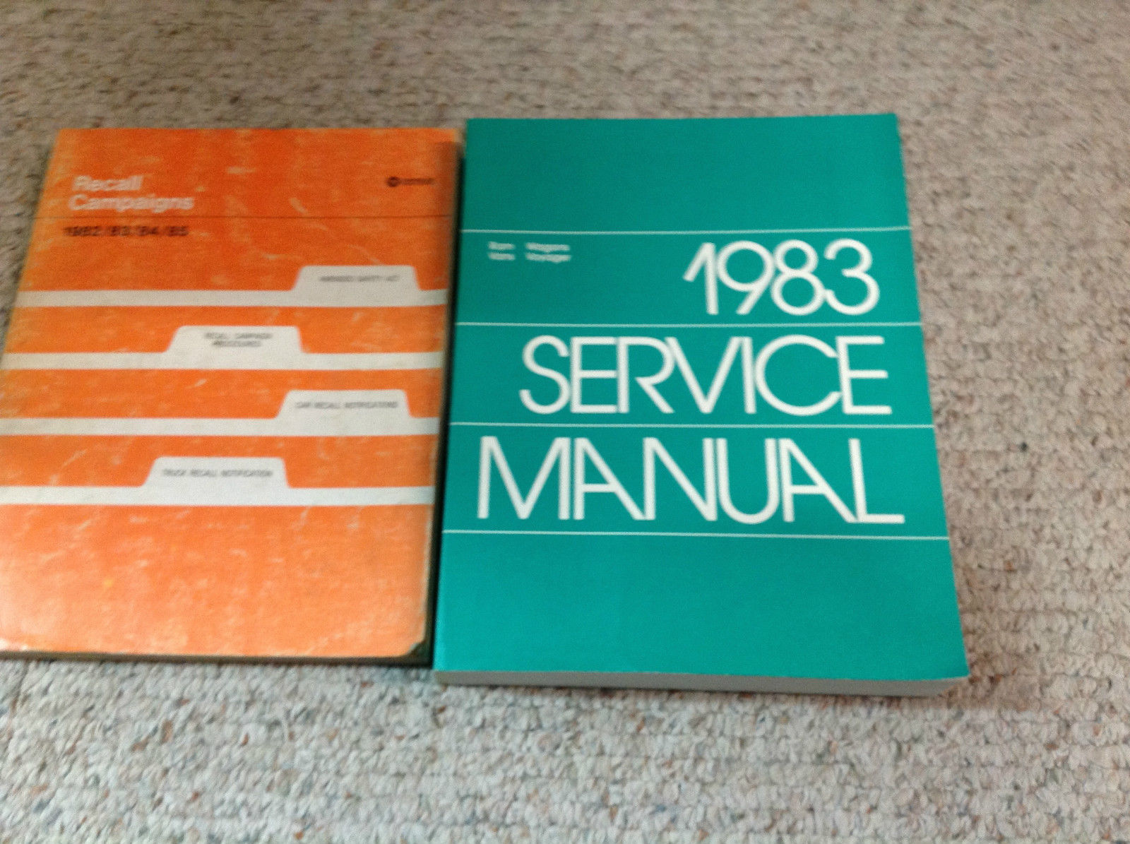 Primary image for 1983 DODGE RAM VAN VANS WAGON WAGONS Voyager Service Repair Shop Manual Set W Re