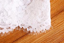 Off Shoulder V-Neck Long Sleeve Lace Crop Tops Boho Wedding Bridal Lace Top image 5