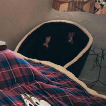 Disney Chip & Dale Mini Bore Seat Chair Fur Folding Chair Cushion Chair Japan image 2