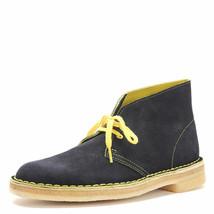 Clarks Originals Desert Boot Men's Black Yellow Suede 26161274 - $130.00