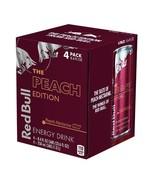 Red Bull Peach Edition Peach Nectarine 4 pack 8.4oz Exp. 10-21 *Disc. Fl... - $21.78