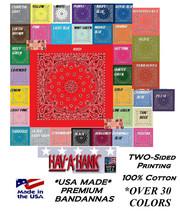USA MADE HAV-A-HANK PAISLEY BANDANA HEAD Neck Wrap Hanky Scarve Handkerc... - $9.44