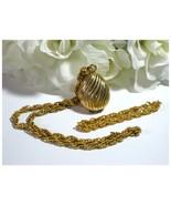 "AVON ""Golden Charmer"" Perfume Glace' Locket Nec... - $10.00"