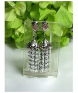SARAH COVENTRY Silvery Cascade Dangle Earrings - $8.00