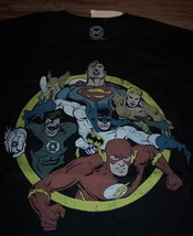 Vintage Style Justice League Superman Aquaman Batman Dc Comics T-Shirt Small - $19.80