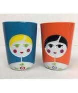 QDO Double Walled Babushka Thermal Cup 210 ml set of 2 orange blue - $49.49