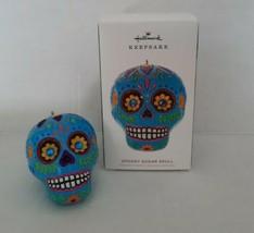 Hallmark 2019 Spooky Sugar Skull Dia De Los Muertos Halloween Keepsake Ornament - $12.82