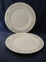 2 Dynasty Fine China Rapture Dinner Plates Pink White Blue Floral Grey S... - $12.00