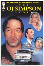 He Said/She Said #5 1994 OJ Simpson Nicole Brown comic book - $26.07