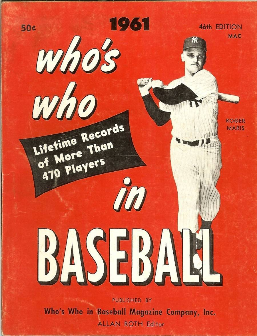Primary image for 1961 who's who in baseball magazine roger maris dick groat rare