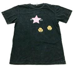VINTAGE The Plug Shirt Men's Size Medium M Black Short Sleeve Distressed... - $17.83