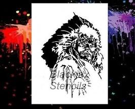 "NEW! 15""x12"" Stencil Chief 04 Airbrush Stencil,Template - $37.40"