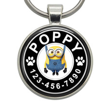Pet ID Tag - Bob (Minions) - Dog ID Tag, Cat ID Tag, Pet Tag, Dog Tag, C... - $19.99