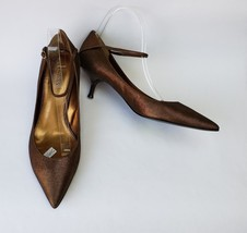 Guess Marciano Shoes Heels Ankle Strap Low Heels Bronze Racey Womens Size 8.5 M - $49.46