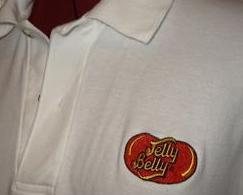 t42 Jelly Belly Jelly Beans Logo Golf Polo Shirt M
