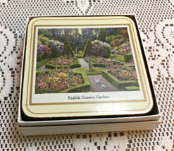 Vintage PIMPERNEL DELUXE Finish Coasters Six English Country Garden Coas... - $10.00