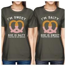 Sweet And Salty BFF Matching Dark Grey Shirts - $30.99+