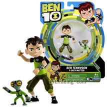 Year 2017 Ben 10 Series 4 Inch Tall Figure - BEN TENNYSON with GREY MATTER - $29.99