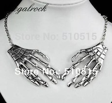 Regalrock Gothic Bone Hands Skeleton Fashion Bohemian Ethnic Choker Maxi Power V - $12.12