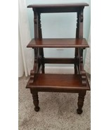 Vintage Mahogany Regency Style Library/Bed Steps - $395.99
