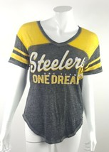 Pittsburgh Steelers NFL 1 Team 1 Dream Juniors Medium 7/9 Gray V-Neck Te... - $13.09