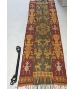 Handspun Hand woven Figural Sumba Hinggi Warp Ikat 8ft Tapestry Waeo Son... - $474.99