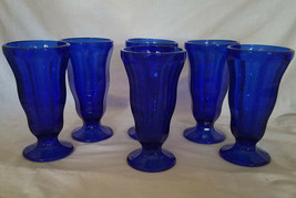 Anchor Hocking Vintage Inspired Fountainware Cobalt Blue Soda Tumbler, S... - $31.50