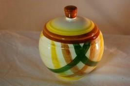 Metlox Poppytrail Vernonware 1958 Homespun Covered Sugar Bowl - $10.79
