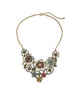 Acrylic Hollow Flowers Pendant Statement Necklace For Women Wholesale Je... - $28.66