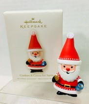 2008 Cookies and Cocoa for Santa Hallmark Christmas Tree Ornament MIB Pr... - $12.38