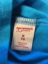 Arizona Girl's Blue One Shoulder Shirt / Blouse - Size: Medium 7/8 image 7