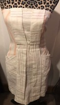Coincidence &Chance Urban Outfitter Ivory Peach Striped Strapless Dress ... - £7.74 GBP