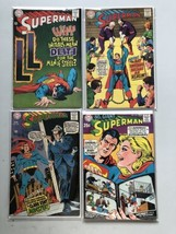 Lot of 4 Superman (1939 1st Series) #204 206 209 212 FN Fine - $59.40