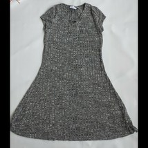 Black White Knit Sweater Dress Girls Size 16 XXL Childrens Place Short S... - $14.84