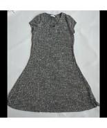 Black White Knit Sweater Dress Girls Size 16 XXL Childrens Place Short S... - $14.84