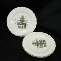 "Nikko Happy Holidays Salad Plates 7.75"" Lot of 4 - $39.19"