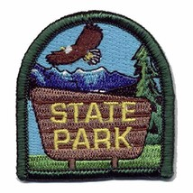 Cub Girl Boy STATE PARK Embroidered Iron-On Fun Patch Crests Badge Scout... - $4.90