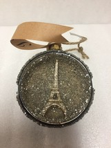 Pottery Barn Paris Orb Christmas Ornament Eiffel Tower France New Old Stock - $29.69